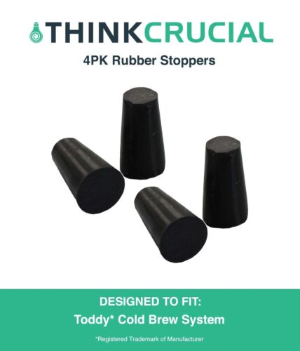 4 Replacements Toddy Cold Brew System Rubber Stoppers
