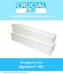 2 REPL Aprilaire Air Filters Fit Space-Gard 2400 Air Purifiers Part # 401