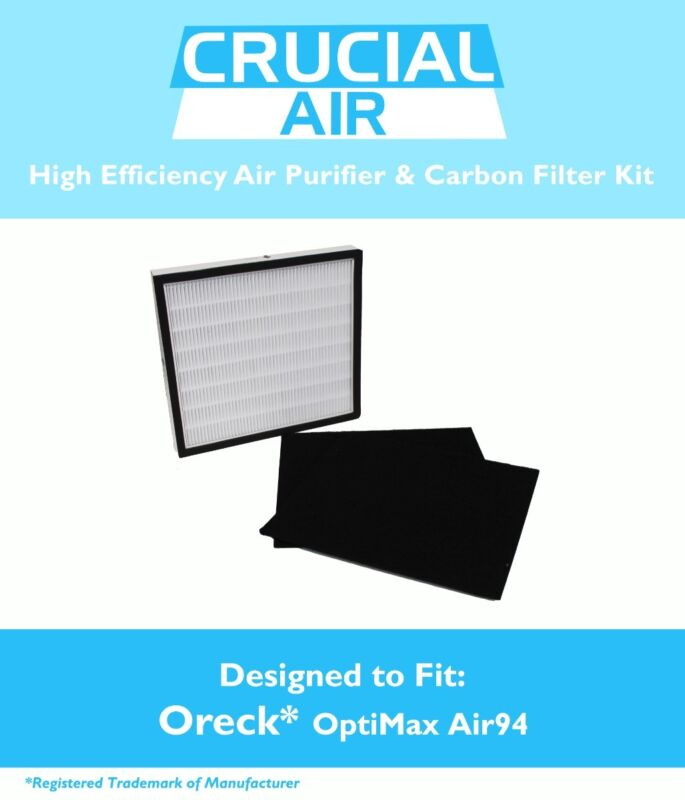 Replacement Oreck OptiMax® Air 94 1 Air Filter & 2 Carbon Filters