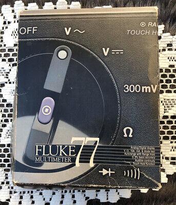 Fluke 77 Digital Multimeter Wprobes Holster Manualboxall Segments Good