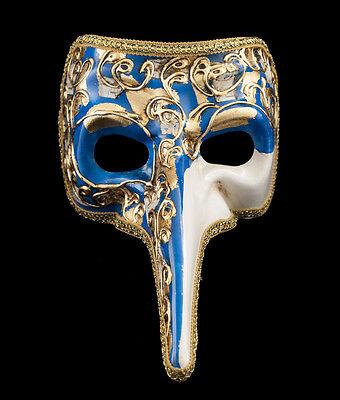 Mask from Venice Musica-Gala Venetian Nasone Long Nose Carnival Blue 1522 VG20