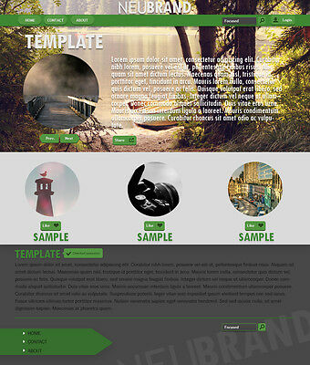 Simple Green Neubrand Website Template
