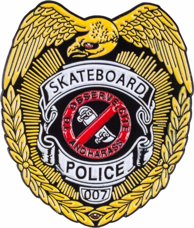 Powell Peralta SKATEBOARD POLICE BADGE Skateboard LAPEL PIN