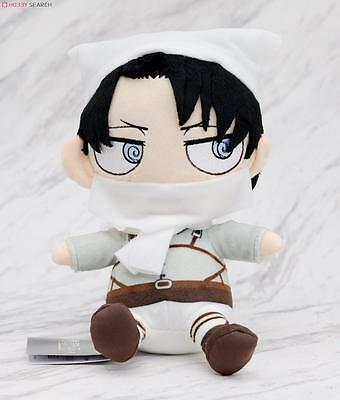 Attack on Titan Shingeki no Kyojin Chimi Chara Plush Cleaning Levi