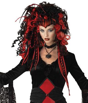 Mr Nightmare Halloween (Morris Costumes New Women's Nightmare Widow Peak Wig Black Red.)