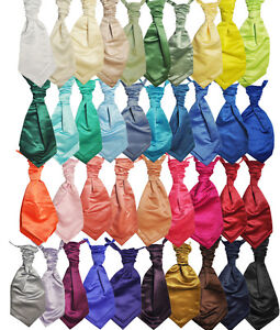 Formal-Tailor-Mens-Wedding-Cravats-Aqua-Pool-Apple-Red-Fushia-pink-Aubergine
