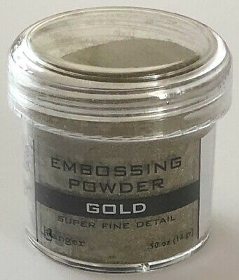 Ranger - Embossing Powder - Super Fine Detail Gold EPJ37408 - 14gr/ 0.50 oz Super Fine Detail Embossing Powder