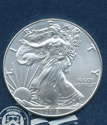 2018 BU UNC Silver American Eagle (ASE) 1 oz Direct From Roll Fine Bullion
