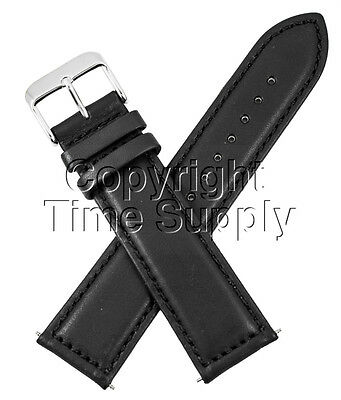 (18 mm BLACK CALF LEATHER PADDED WATCH BAND / STRAP NEW)