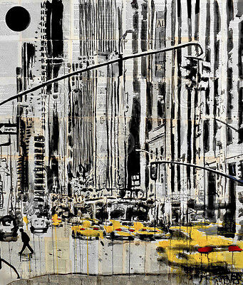(NYC ART PRINT - Somewhere in New York City by Loui Jover Radio City Poster 13x19)
