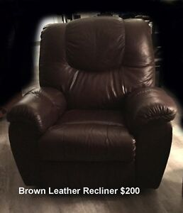 Furniture leather couch table chair