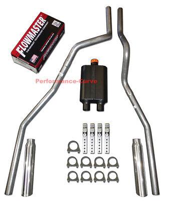 04 - 08 Ford F150 Truck Mandrel Bent Dual Exhaust w/ Flowmaster Super 44 Muffler