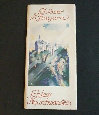Antique Schloss Neuschwanstein ~ Residenz Munchen Germany Travel Brochure
