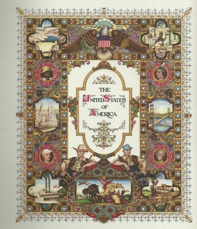 Judaica Old Title Page for the United States of America Designed By Arthur Szyk