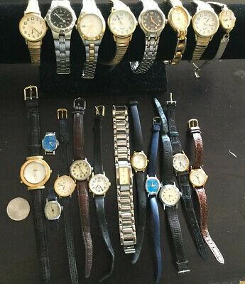 Lot of 20  Vintage Womens Timex Watches As Is