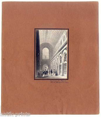 Hamburg - Das Innere des Bazars - Stahlstich 1845