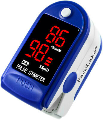 Facelake Fl400 Pulse Oximeter With Carrying Case Batteries Neckwrist Cord