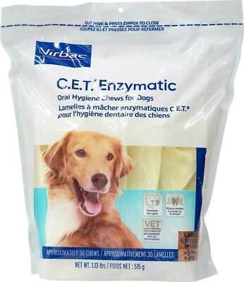 CET Enzymatic Oral Hygiene Chews for Large Dogs 50+Pounds 30 chews plaque