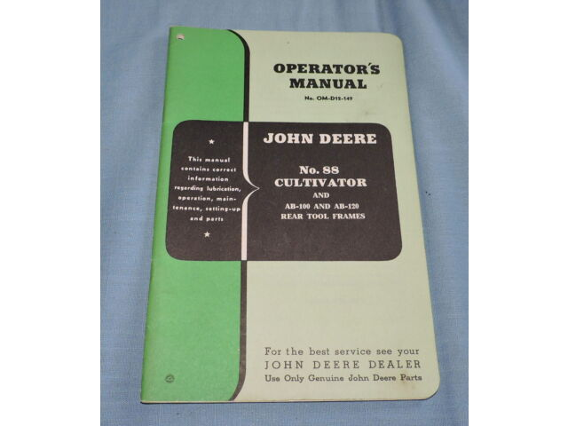 John Deere No. 88 Cultivator & AB-100 & AB