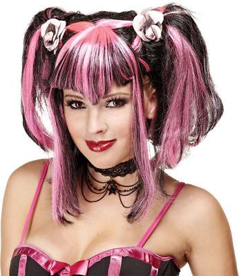 Morris Costumes Women's Bad Fairy Black,Pink Wig . MR177056 - Bad Fairy Costumes