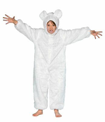 WIL - Kinder Kostüm Bär in weiß Eisbär - Eisbär Kostüme Kinder