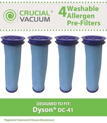 4 Dyson DC-41 DC41 DC41i DC65 Washable Vacuum Pre Filter 920640-01