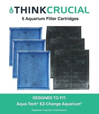(6 Aqua-Tech EZ-Change #3 Aquarium Filter Cartridge Replacements)