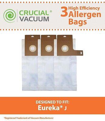 3 Eureka J Vacuum Bags Series 2270 & 2900-2920 61515C-6
