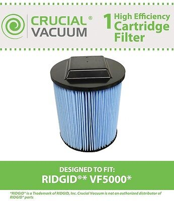 Replacement Ridgid VF5000 6-20 Gallon Wet/Dry Units 3-Layer Replacement Filter