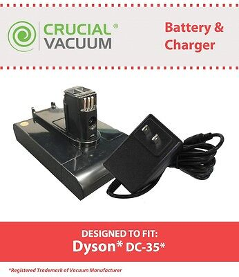 REPL Dyson DC31 & DC35 22.2V Li-ion 1500mAh Battery & Charger Part # 917083-01