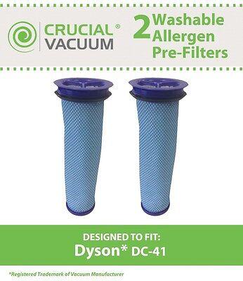 2 Dyson DC-41 DC41 DC41i DC65 Washable Vacuum Pre Filter 920640-01