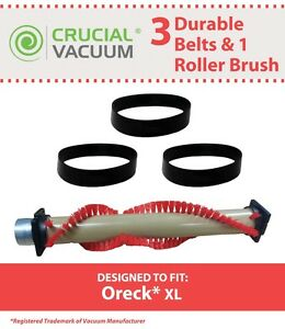 Replacement Oreck XL Roller Brush & 3 Belts Part # 016-1152 75202-01 XL010-0604