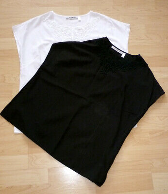 Ärmelloses Damen-top (2 x  Damen Top luftig ärmelloses von Charmant Gr. 42 schwarz und weiß Neuwertig)