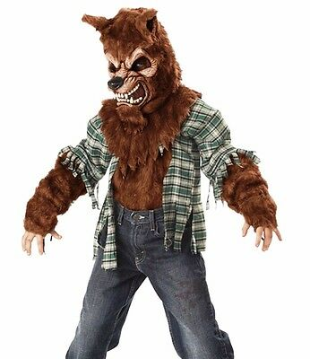 Deluxe Werewolf Child Costume - Howling at the Moon Werewolf Costume Deluxe Childs Boys Warewolf Were Wolf