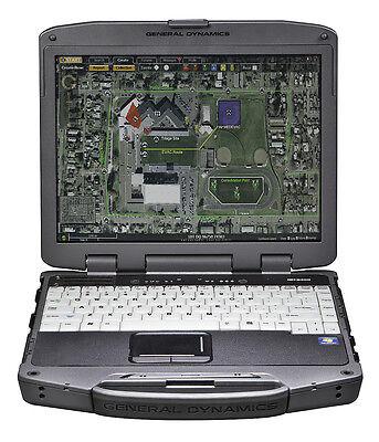 Rugged Itronix GD8000 Touchscreen GPS Backlit Chartplotter Marine OptFingerprint