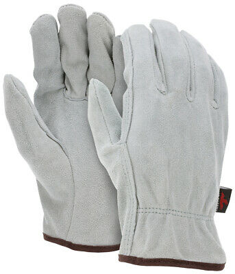 Mens Mcr Safety 3120 All Split Leather Unlined Drivers Work Gloves - Size Medium