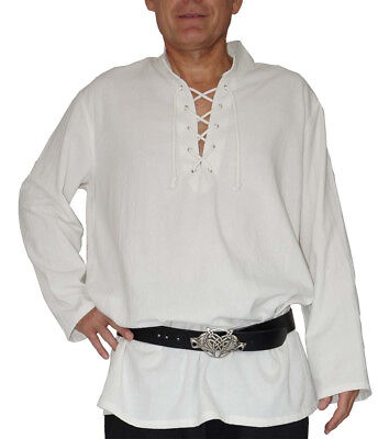 Mittelalter Hemd Piratenhemd Wikinger Kelte Fischerhemd Yagumir G. M L - Fischer Kostüm