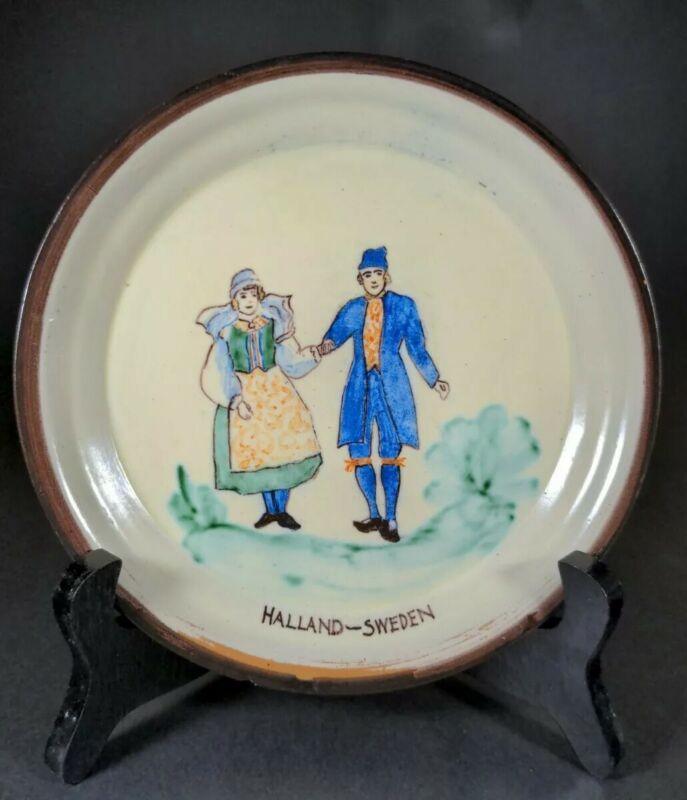 🟢 Mini Sweden Halland Vintage Hand Made Ceramic Plate. Pre-owned. MBR