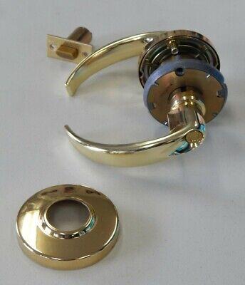 Schlage Privacy Locking Lever D40s Spa Brass 605 2 34 Backset