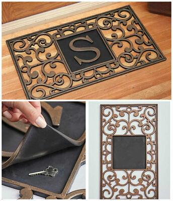 Monogram Door Mats (MONOGRAM HIDDEN HIDE A KEY DOOR MAT Personalized Initial Security Porch Patio )