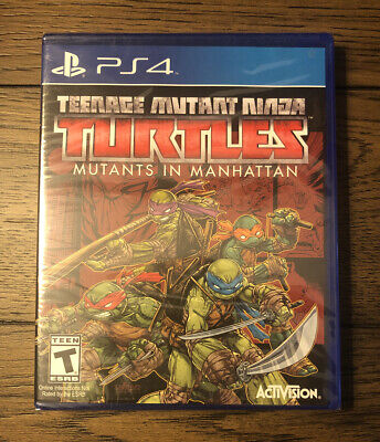 Teenage Mutant Ninja Turtles Mutants in Manhattan Playstation 4 PS4 New Sealed