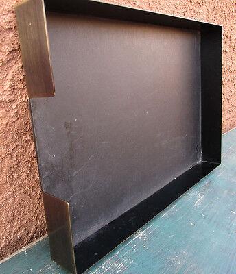 Vintage Metal File Box Paper Tray Desk Office Organizer 15.2x10.1x1.75