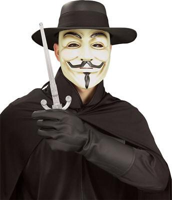 Morris Costumes Men's V For Vendetta Vinyl Gloves Black One Size. RU6888 (V For Vendetta Gloves)