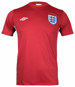 ENGLAND-Mens-Red-Away-Umbro-Football-Shirt-Retro-Official-T-Shirt-Top-M-XXL-NEW