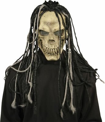 Halloween Costumes Skull Mask (Morris Costumes Halloween Horror Dead Dread Latex Hair Skull Mask.)