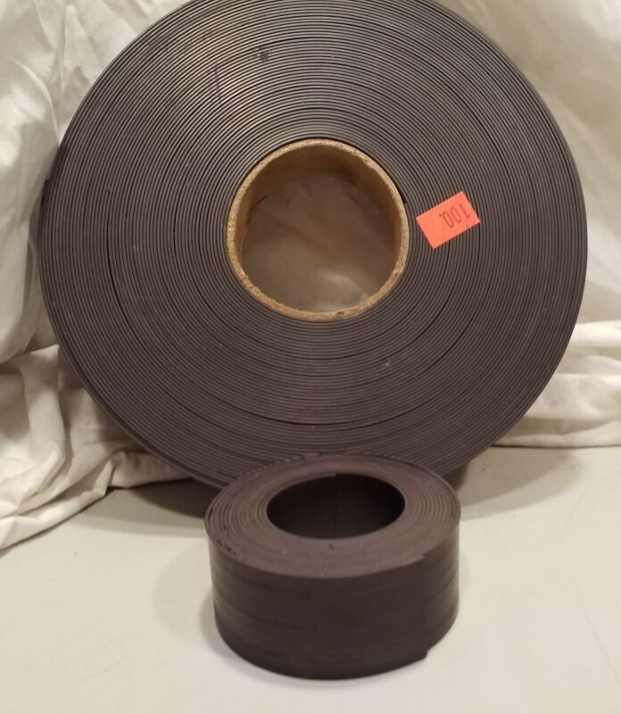 Magnetic Tape, Black, 1.5in wide .060 thick 100ft