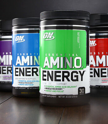 Optimum Nutrition Amino Energy 270G Powder   30 Servings   All Flavours
