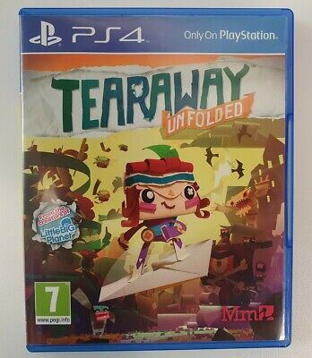 🎮Tearaway Unfolded (Action & Adventure) PS4 Game - Very Good Condition🎮