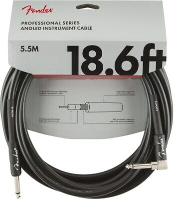 Fender Professional Series Instrument Cable - 18.6 Foot Straight to Angled