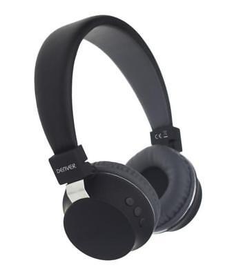 Denver- Wireless Bluetooth Headset BTH-205 Schwarz Kopfhörer Binaural BRANDNEU Wireless Binaural Headset